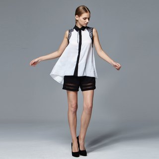 Ling line sleeveless blouse