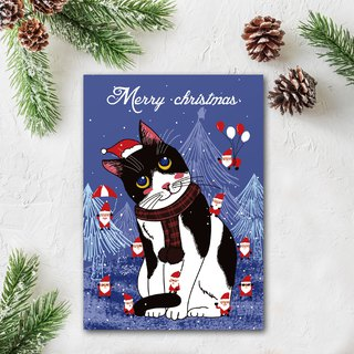 NEW Meng cat Christmas postcard