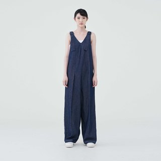 TRAN - V-NECK SLEEVELESS JUMPSUIT