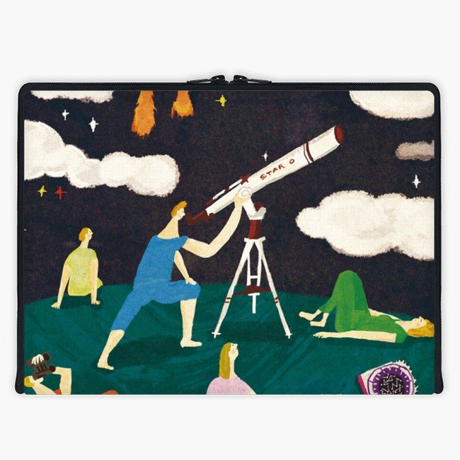 Axis - Custom 3-Sided Zipper Laptop Sleeve - Star Watchers on the Field