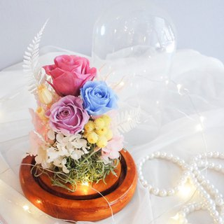 Glass flower buds do not withered flowers night light flower ceremony