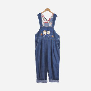 Dislocation vintage / cartoon embroidery denim suspender no.780 vintage