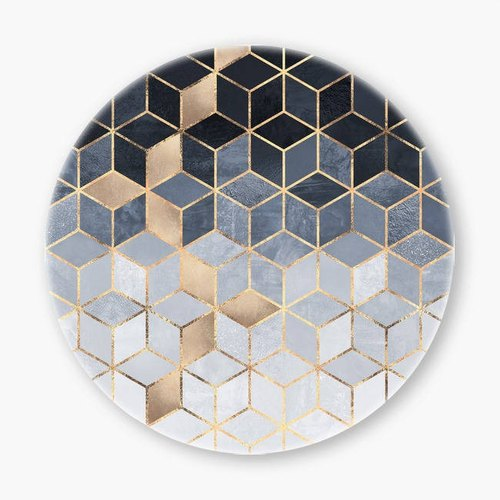 Snupped Ceramic Coaster - 陶瓷杯墊 - Soft Blue Gradient Cubes