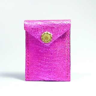 [ANITA] hand-made limited edition ‧ Workshop manual brightly colored pink leather texture x Brilliant Wallets / purse - Specials