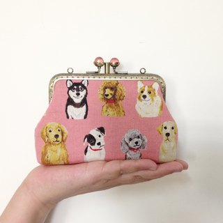 Puppy double mouth gold - card package / purse