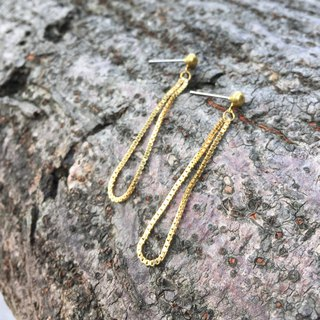 Brass drip earrings can be changed free of charge