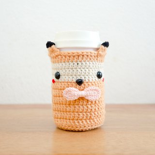 Crochet Cozy Cup - The Cute Fox / Coffee Sleeve, Starbuck.