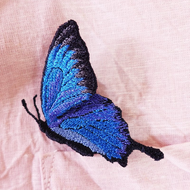 Embroidery Butterfly Flying Brooch / Ulysses Butterfly