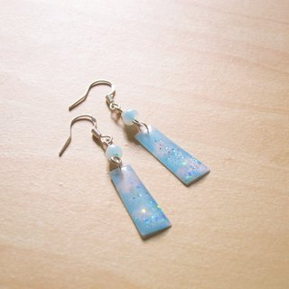 Cream drops x blue sky // 2nd use Accessories / Accessories Cloth / fabric earrings