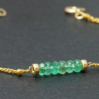 Natural Emerald エメラルド Emerald American 14K Gold Bracelet Light Jewelry