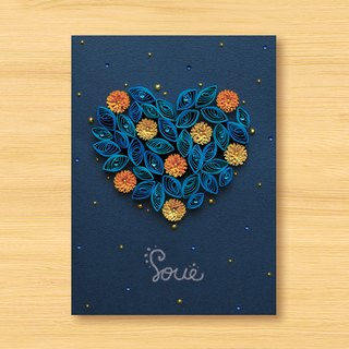 Hand-rolled paper stereo card _ starry sky - love from afar - love roaming under the stars