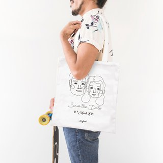 [customized] couple portrait commemorative shoulder bag A4
