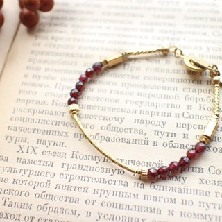 The red-Garnet brass bracelet