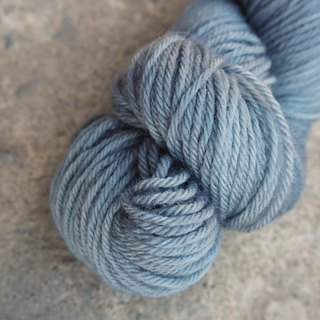 Hand dyed the line. Blue Grey (Sport 100% Merino)