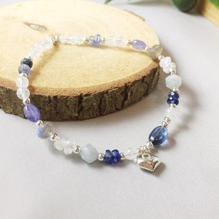 MH pure silver natural stone custom series _ the wish of the stars _ kyanite