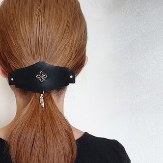 Cross rivet - leather hair clip hair accessories