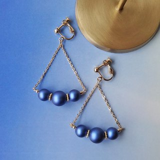 Iridescent blue Pearl Earrings