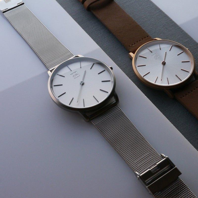 THIN 5010 極簡超薄米蘭手錶 - 銀白