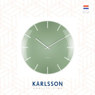 荷蘭Karlsson, Wall clock Glass Dome green 玻璃凸面綠色掛鐘
