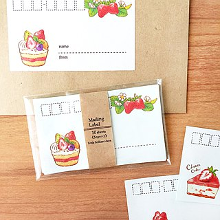 "Mailing Label ""StrawberryCakes"""