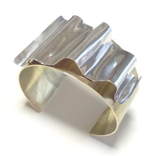[Orders] production bangle / Gold & Silver drape wide variation design <unisex> S-LL size
