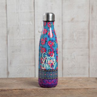 Stainless steel insulation / cold water bottle - Good Vibes Only | WB002