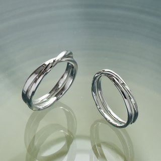 Ripple 涟漪 sterling silver ring single ring custom silver ring