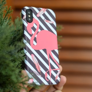 a pink Flamingo case สำหรับ iphone5s, 6s, 6s plus, 7, 7+, 8, 8+, iphone x