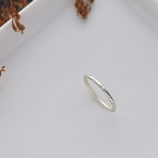ni.kou Sterling Silver Knit Ring - Thick Edition (a total of three)