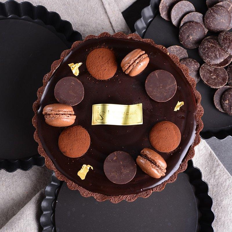 【送小熊盤叉】生巧克力榛果塔 /6吋 生日蛋糕 節慶禮盒 *超人氣*
