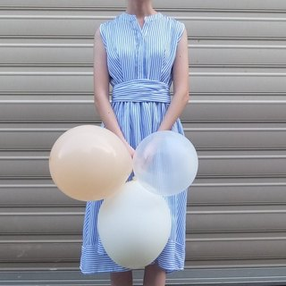 Wrap blue and white stripes dress (can be customized maternity dress)