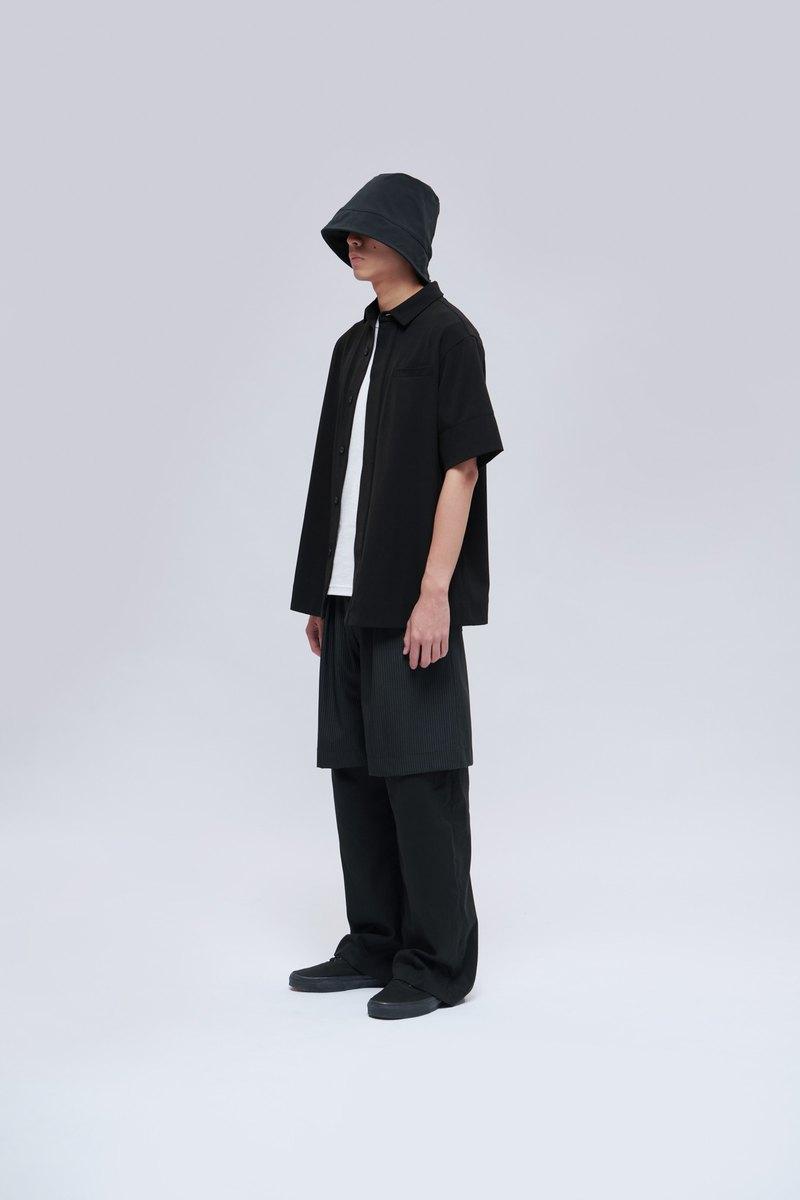 條紋雙層直筒褲