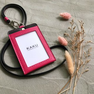 KAKU leather design customized identification card folder leisure card holder document folder pink