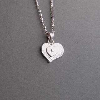 Endless love - heart-shaped sterling silver necklace