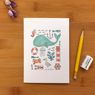 【LITTLE DIFFERENCE】SEA MONTAGE GREETING CARD