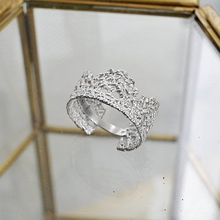 [Jewelry] Jin Xialin ‧ single crown Lace Ring Silver