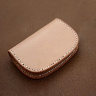 Saddle leather simple business card holder