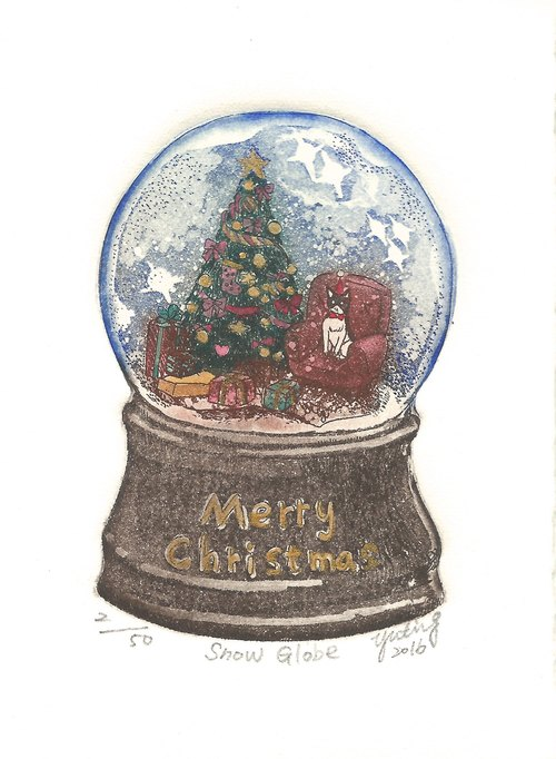 Original prints - Snow Ball Snow Globe- Su Yuting