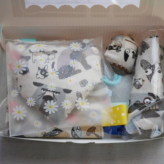 Dog Mi Yue gift box appease towel triangle saliva towel pacifier bag