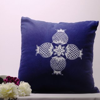 Batik pomegranate hand-plant printing and dyeing cotton pillowcase