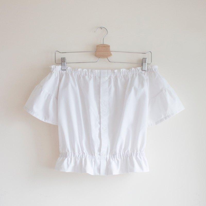White Strapless Tops