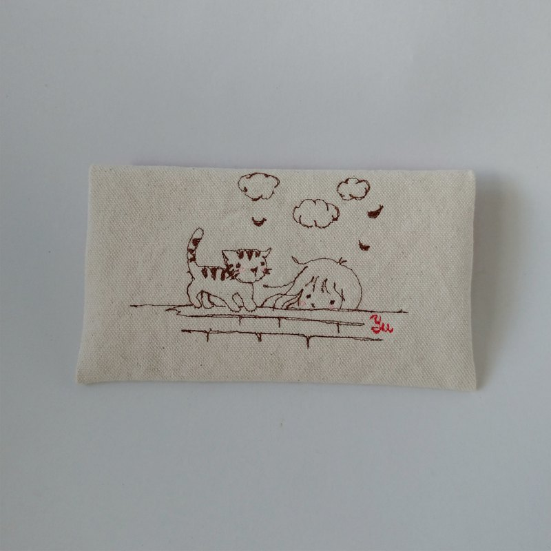 The beginning of the story 1---folding clutch, pencil case, storage bag