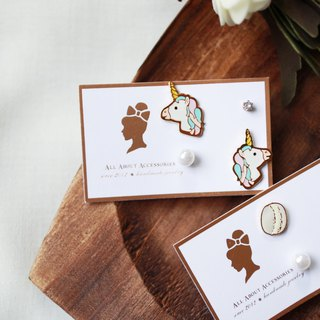 Cute style four-piece earrings