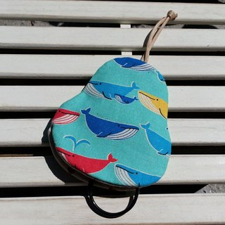 Colorful Whale Pear Key Case [K170626]