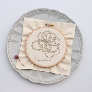 Flowers meow lace flower illustration embroidery material package