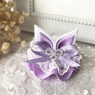 Lace rabbit ear waltz / tender purple
