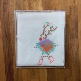 Christmas gift exchange skating elk handkerchief