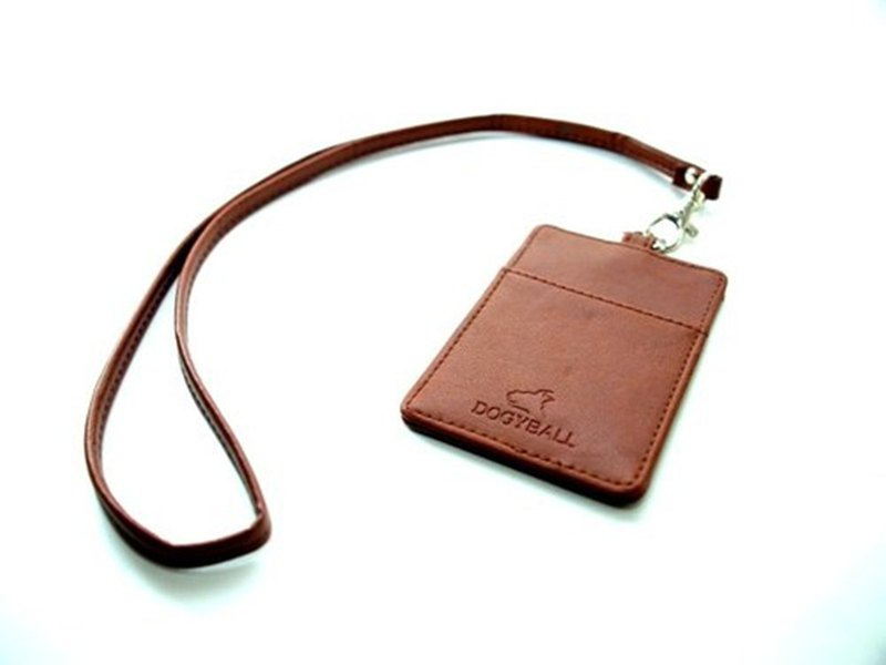 "[Dogyball] ""simple small things"" brand leather decoration staff identification card detachable card item set"