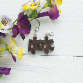 Wooden Charm Series Puzzle Pair of Charm Gifts Customized