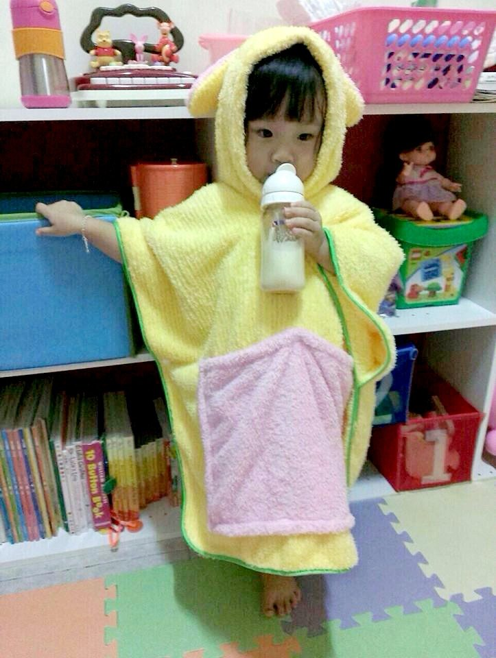*Odd flower house*★ Wuffy cute baby child modeling antibacterial microfiber bath robe 100% made in Taiwan